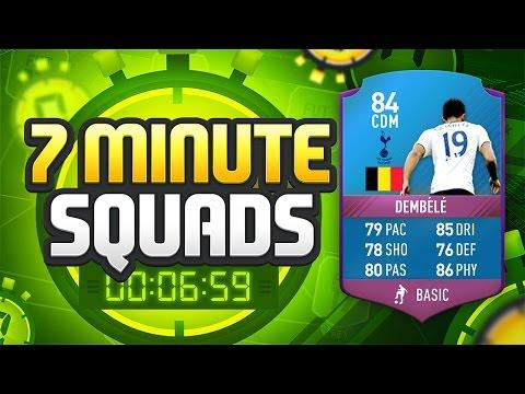 FIFA 17 SEVEN MINUTE SQUADS!!! SQUAD BUILDER CHALLENGE DEMBELE!!! Fifa 17 Squad Builder Challenge