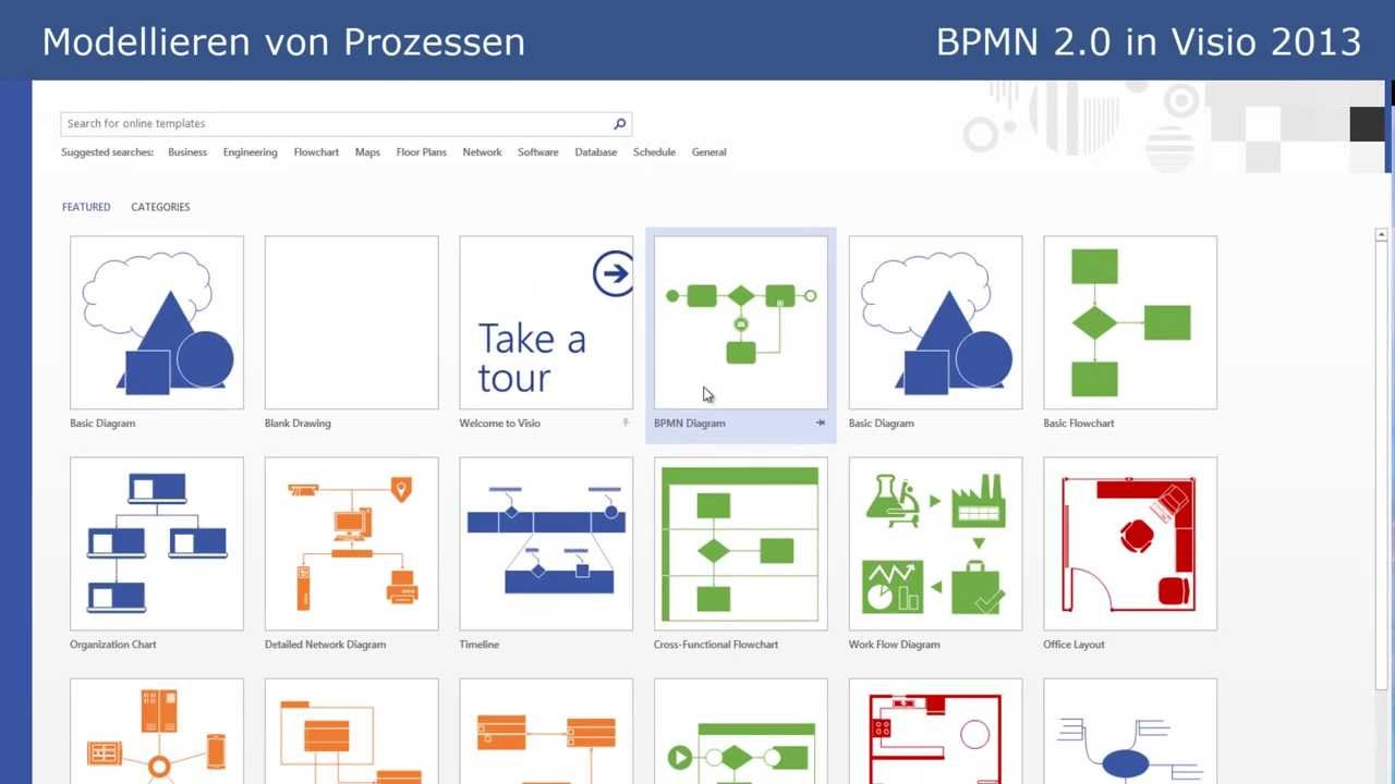 BPMN 2.0 - BPMN in Visio 2013 (Tutorial Part 7) - YouTube