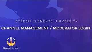 StreamElements Channel Management guide thumbnail
