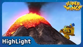 Stop the Volcano | SuperWings Highlight | S1 EP5