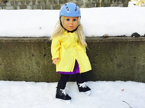 AMERICAN GIRL Doll Toys Skating Outdoors Videos for Kids!