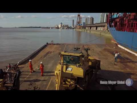 TRANSHIPMENT OPERATION FROM RIVER BARGE TO VESSEL