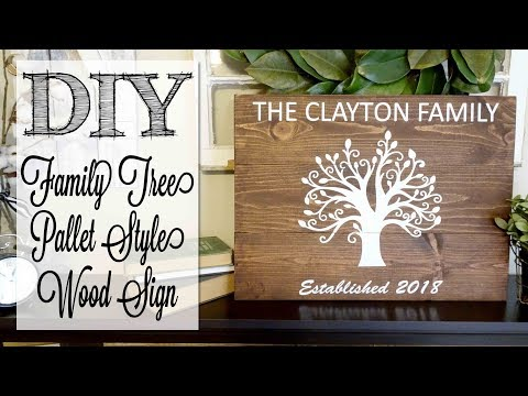 DIY Family Tree Pallet Style Wood Sign