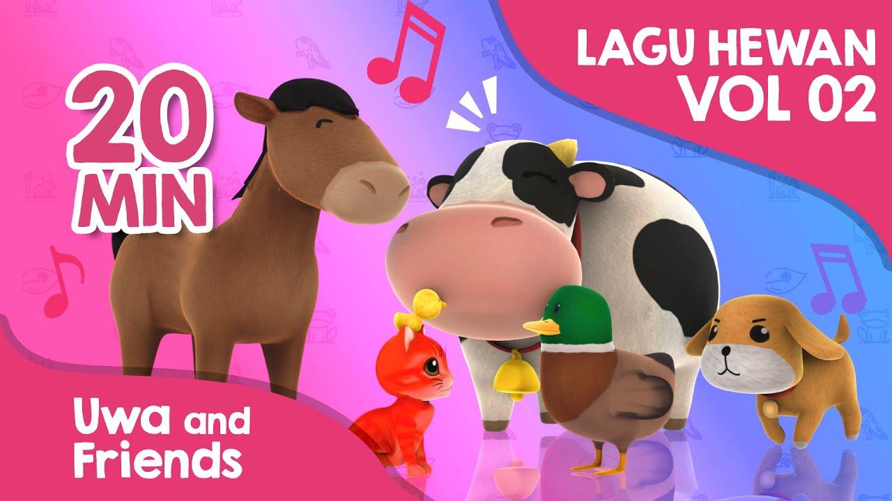 Kumpulan lagu belajar hewan baru vol 02 - Kucingku Heli 5 Bebek Kecil Naik Delman Anak Gembala