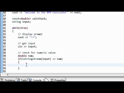 Data Structures Using C++: Using the Stack to create a RPN (post-fix notation) Calculator