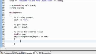 هياكل البيانات باستخدام C++: استخدام المكدس لإنشاء RPN (بعد الإصلاح التدوين) آلة حاسبة