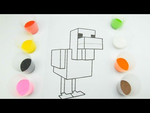 Раскраски Курица из Майнкрафт приколы - YouTube