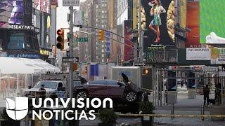 Acusado de arrollar a varias personas en Nueva York condujo varias cuadras en sentido contrario