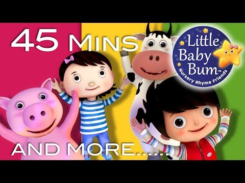 Jumping Around | + More Nursery Rhymes And Kids Songs | 45 Mins Compilation from LittleBabyBum!