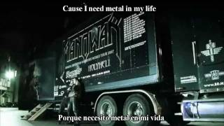Repeat youtube video Manowar Die For Metal Subtitulado al Español with Lyrics (HD)