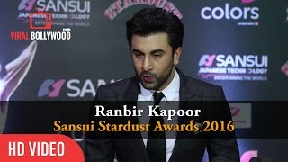 Ranbir Kapoor At Sansui Stardust Awards 2016