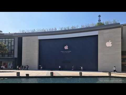 Ningbo, china apple store at tianyi square opens sept. 16 in time for 'iphone 8' release by BuzzFre