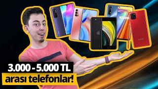 3.000-5.000 TL arasında alınabilecek en iyi telefonlar!