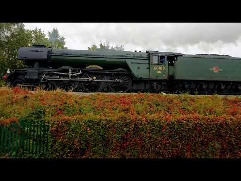 Flint 22.9.2018 - Flying Scotsman on Ynys Mon Express