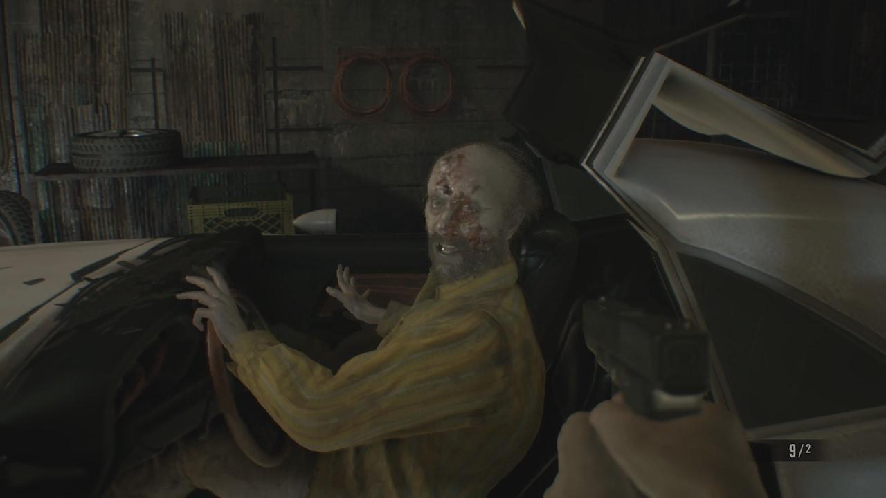 Resident Evil 7 Biohazard How To Defeat Jack Baker Garage Fight