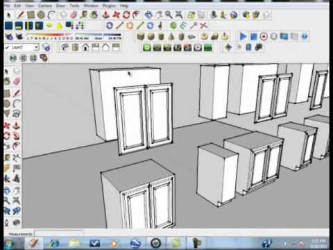 Sketchup Tutorial Kitchen Designs Made Simple And Easy Part 4 Youtube