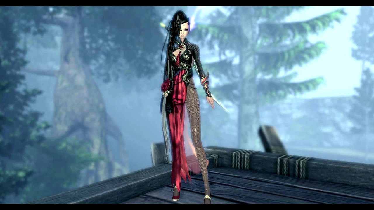 Blade And Soul Mod JIn Female Red Dress Replaces