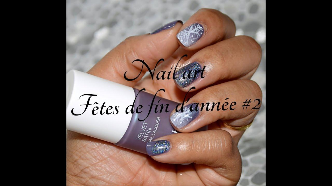 Nail Art On Youtube: Nail Art : Fêtes De Fin D'année #2