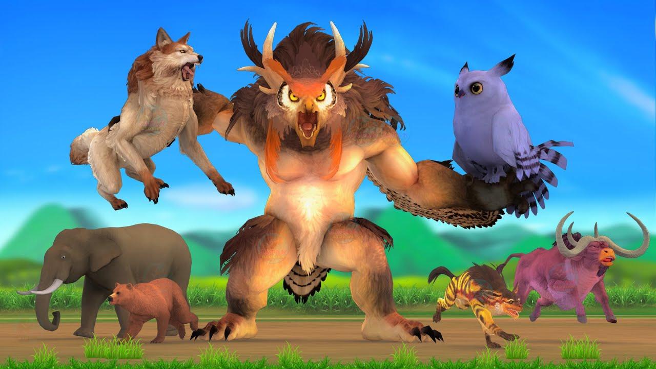 विशाल उल्लू भेड़िया की सजा Giant Wolf Owl Punishment Bhediya Ki Kahani - Hindi Kahaniya हिंदी कहनिया