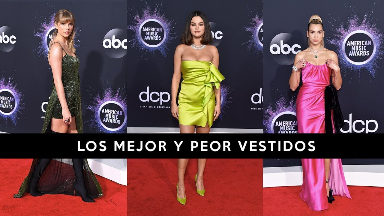 American Music Awards Amas 2019 Los Mejor Y Peor Vestidos Taylor Swift Selena Gomez Dua Lipa