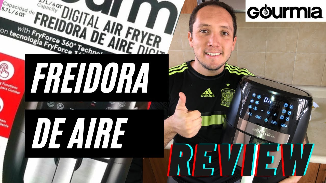 Freidora de aire Gourmia 5.7 L review en español ! Como se usa ¿En verdad funciona?