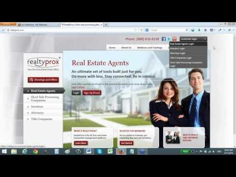 RealtyProx 101: Grow Your Short Sale Business