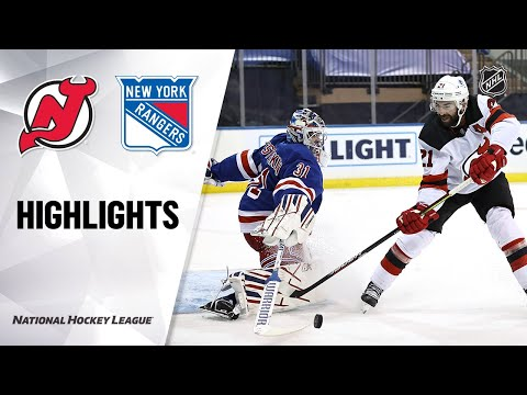 Devils @ Rangers 2/16/21 | NHL Highlights