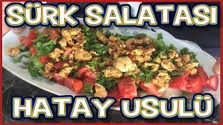 Sürk Salatası   Hatay Usulü Sürk Salatası Tarifi   Hatay Usulü Çökelek Peyniri Salatası Yapımı