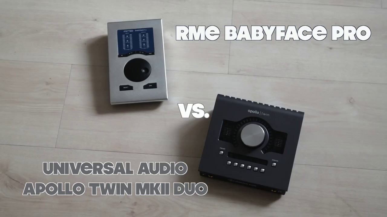 RME Babyface Pro vs  UAD Apollo Twin MKII Duo