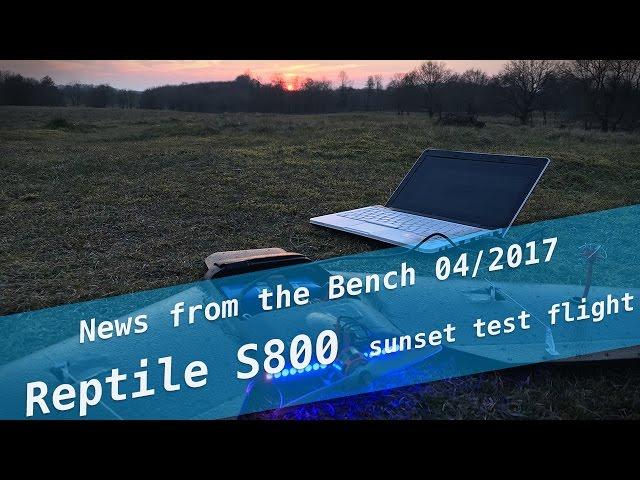 S800 Sky Shadow sunset test flight