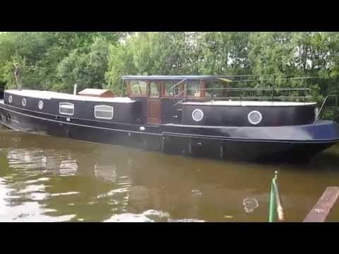 Lovely Leitrim Barge into the water