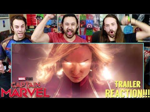 Marvel Studios' CAPTAIN MARVEL - Official TRAILER REACTION!!!