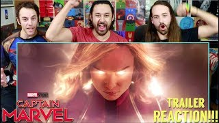 Marvel Studios' CAPTAIN MARVEL - Official TRAILER REACTION!!!