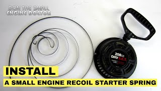 Best 3 Ways To Install A Recoil Starter Spring On A Small Engine | Lawnmower Etc.
