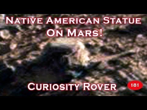 Statue On Mars Resembles Native American Man