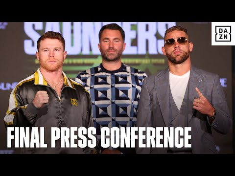 Canelo & Billy Joe Saunders Exchange Words At Final Press Co