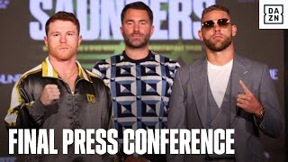 Canelo & Billy Joe Saunders Exchange Words At Final Press Conference
