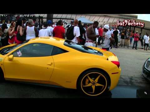 Gucci Mane in his YELLOW Ferrari 458 on FORGIATOS @ Stunt Fest 2012 - 1080p HD