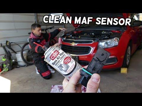 CHEVROLET CRUZE MAF SENSOR CODE  HOW TO CLEAN MAF SENSOR  CHEVY SONIC
