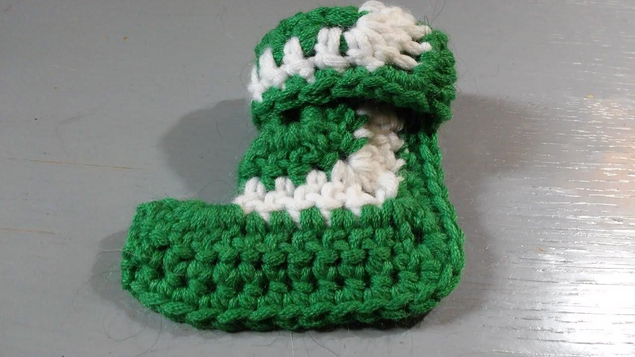 Socken Häkeln Aus Granny Square Weihnachtsanhänger Youtube