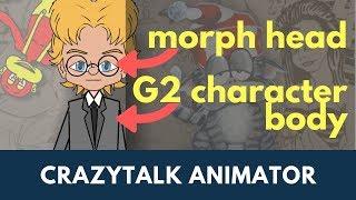 Tet animations morph head g2 body crazytalk animator 3 character