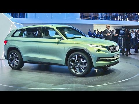 Skoda VisionS – SUV Concept – Interior and Exterior Walkaround