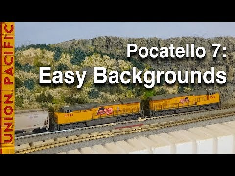 Pocatello 7: Shallow Scenery in 4 Easy Steps on My N-Scale Layout