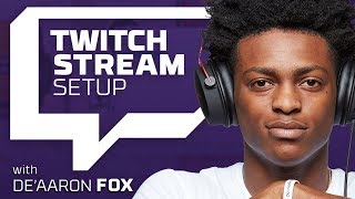 HyperX Sets Up De'Aaron Fox for Twitch Live Streaming