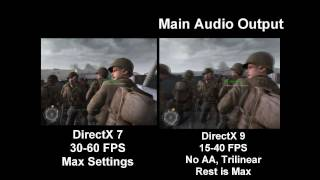 Call of Duty 2: DirectX 7 vs. DirectX 9 Side-by-Side