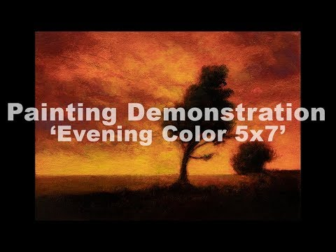 Evening Color 5×7 Tonalist Landscape Painting Demonstration