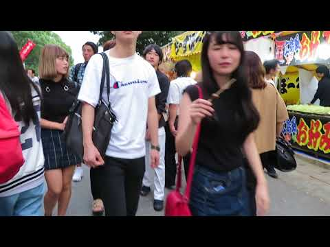 筥崎宮放生会の参道の賑わい(2017.09.13)