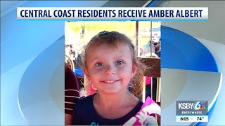 Central coast residents recieve AMBER alert for missing girl