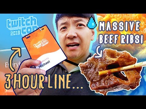 Twitch Con & Giant Korean Beef Ribs in San Jose California