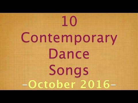 10 Contemporary Dance Songs October 2016